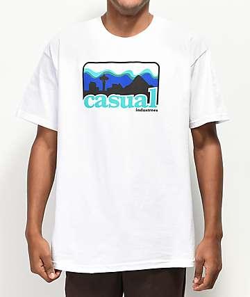 Casual Industrees PNW Skyline camiseta blanca