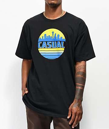 Casual Industrees SEA Skyline camiseta negra