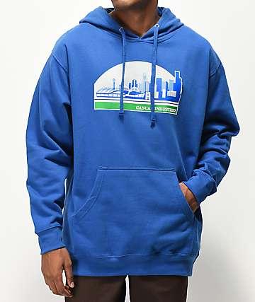 Casual Industrees Sodo Skyline Blue Hoodie
