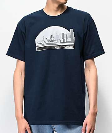 Casual Industrees Sodo Skyline Navy T-Shirt