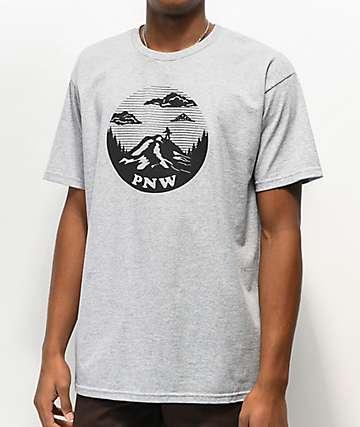 Casual Industrees Squatch Mountain camiseta gris jaspeada