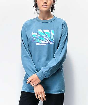 Casual Industrees WA Brah Slate Blue Long Sleeve T-Shirt