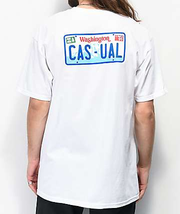 Casual Industrees WA Casual Drive White T-Shirt