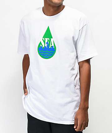 Casual Industrees WA Dripped White T-Shirt