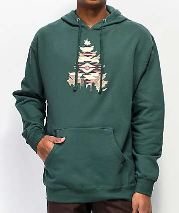 Casual Industrees WA Native Johnny Tree sudadera con capucha verde