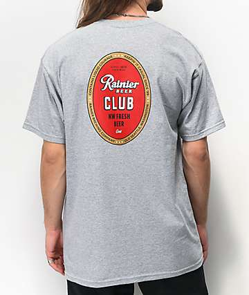 Casual Industrees x Rainier Members camiseta gris