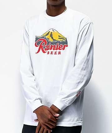 Casual Industrees x Rainier Rainbeer camiseta blanca de manga larga