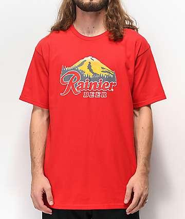 Casual Industrees x Rainier Rainbeer camiseta roja