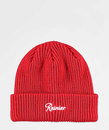 Casual Industrees x Rainier Red Beanie