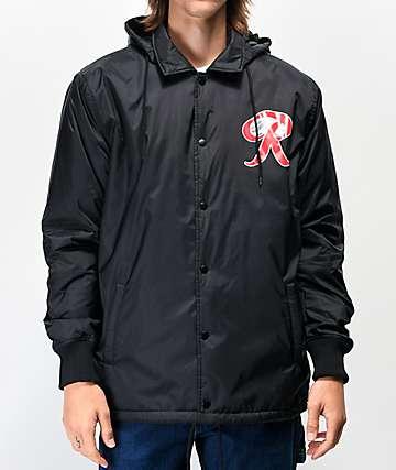 Casual Industrees x Rainier chaqueta entrenador negra