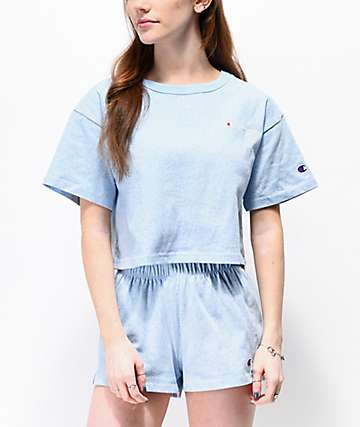 Champion Active Blue Crop T-Shirt