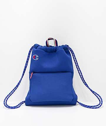 Champion Attribute bolso azul con cordones