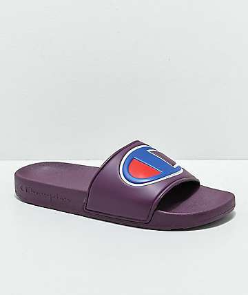 Champion Berry Logo Slide Sandals