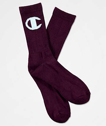 Champion Big C Venetian Purple Crew Socks