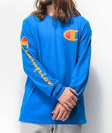 Champion Big C camiseta azul de manga larga