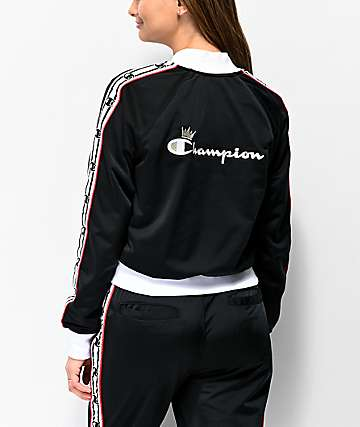 Champion Black & White Taping Track Jacket