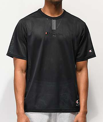 Champion Black Mesh YC T-Shirt