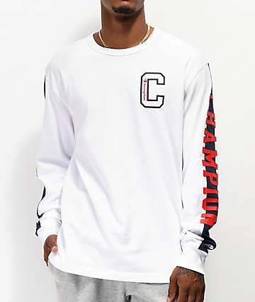 Champion Block C camiseta blanca de manga larga