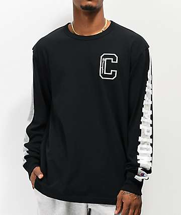 Champion Block C camiseta negra de manga larga