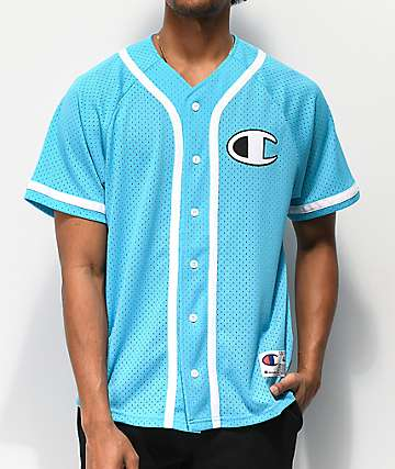 Champion Blue Mesh Baseball Jersey