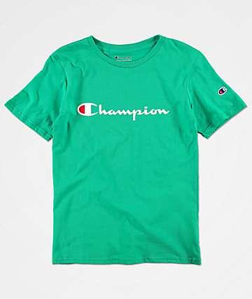 Champion Boy's Heritage Green T-Shirt