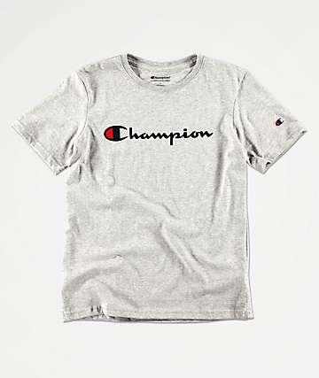 Champion Boys Heritage Oxford Grey T-Shirt