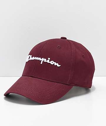 Champion Classic Maroon Twill Strapback Hat