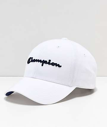 Champion Classic Twill White Strapback Hat