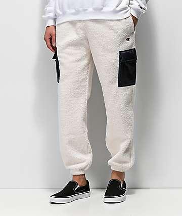 Champion Cream Sherpa Utility Sweatpants