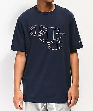 Champion Embroidered C Outline camiseta azul marino
