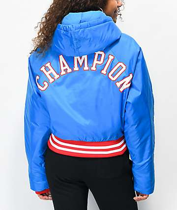 Champion Filled Fashion Blue Crop Jacket