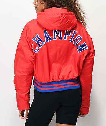 Champion Filled Fashion Red Crop Jacket
