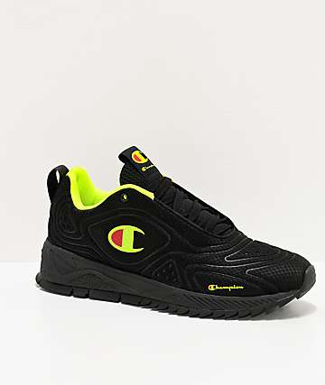 Champion Flex Black & Neon Light Shoes