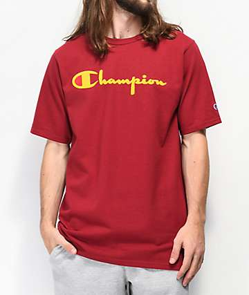 Champion Flock Script Cherry camiseta