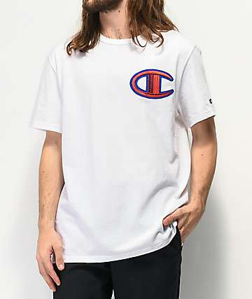 Champion Floss Stitch C camiseta blanca y roja