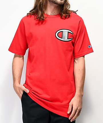 Champion Floss Stitch C camiseta roja