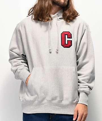 Champion Floss Stitch C sudadera con capucha de tejido inverso gris