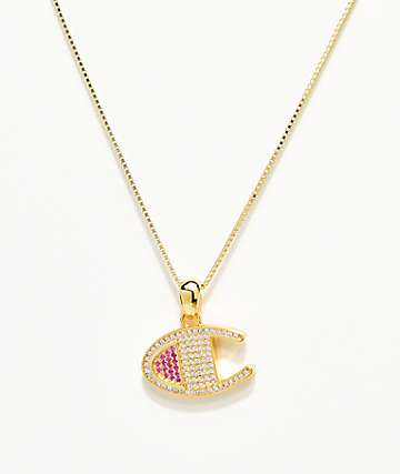 Champion Gold Heritage Pendant Women's Necklace