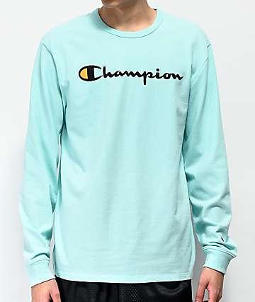 Champion Heritage  camiseta de manga larga verde menta