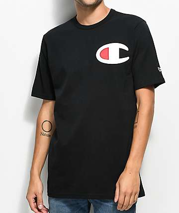 Champion Heritage Big C Patch camiseta negra