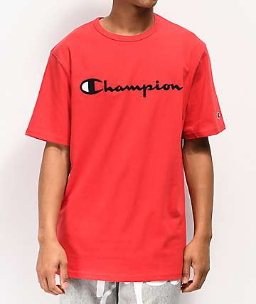 Champion Heritage Embroidered Script Red T-Shirt