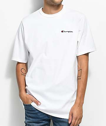 Champion Heritage Embroidered Script camiseta blanca