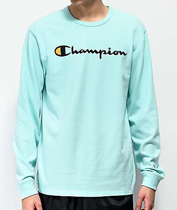 Champion Heritage Mint Green Long Sleeve T-Shirt