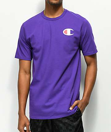 Champion Heritage Patriotic C Purple T-Shirt