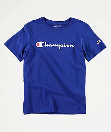 Champion Heritage camiseta azul para niños
