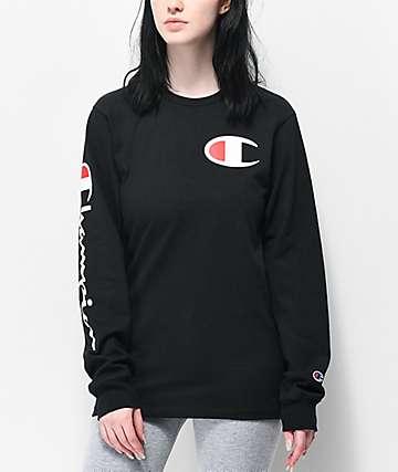 Champion Heritage camiseta negra de manga larga