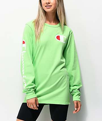 Champion Heritage camiseta verde de manga larga