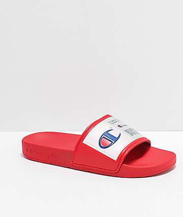 Champion IPO Jock Red Slide Sandals