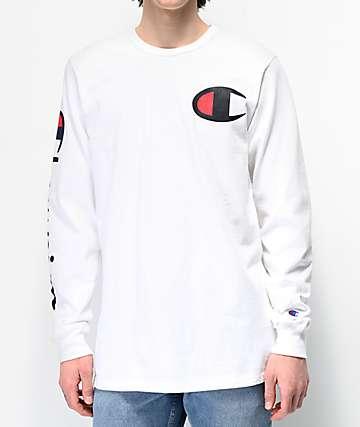Champion Large C camiseta blanca de manga larga