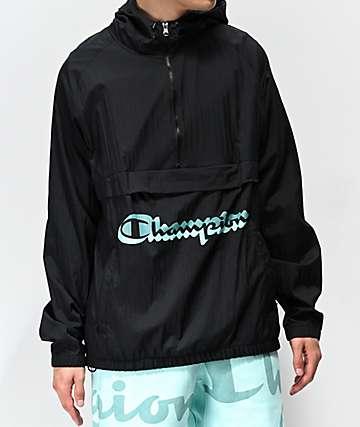Champion Manorak Black Anorak Jacket